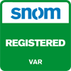 snom registered var logo
